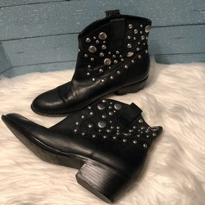 Franco Sarto Silver studded Booties